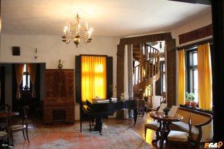 Vedere în salonul unde ținea concerte Enescu
