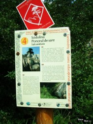 Panou cu informații despre Muntele de Sare