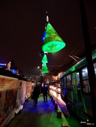 Decorațiuni de iarnă în București