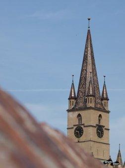 Vedere cu Biserica Evanghelică
