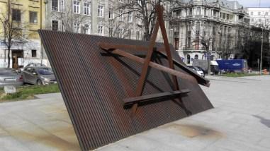 Steaua lui David la Memorialul Victimelor Holocaustului din România