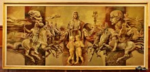 Alegoria cu apariția poporului român, dacii și romanii