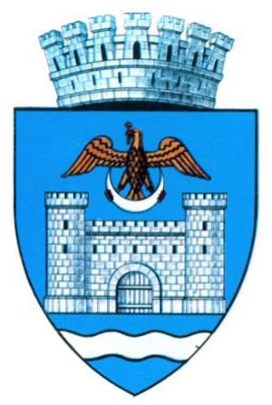 Stema Brăilei, cetatea, acvila, semiluna, coroana, Dunărea
