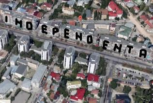 Iași, secrete văzute de sus: Independența scris pe bloc cu balcoanele