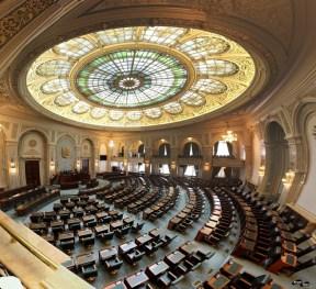 Sala de plen a Senatului, panoramică