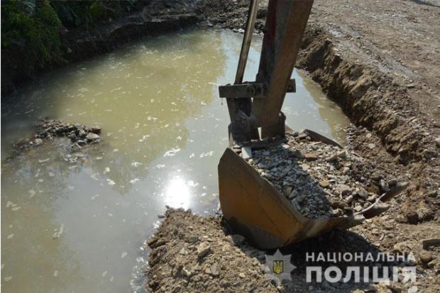 На Львівщині правоохоронці зупинили незаконний видобуток гравію