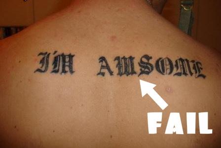 Tattoo Fail Picture