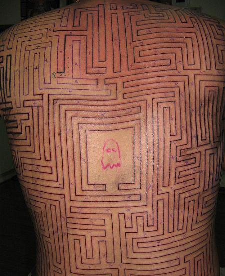 Pac-Man Tattoo