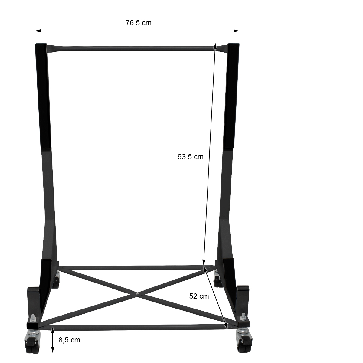 Convertible Roof Hardtop Stand Trolley Black Carrier With