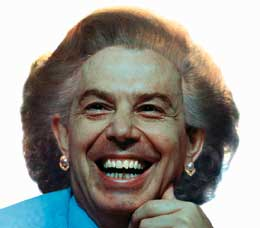 Image result for thatcher and blair