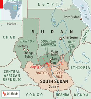 Heglig, South Kordofan and Sudan - the conflcit zone.