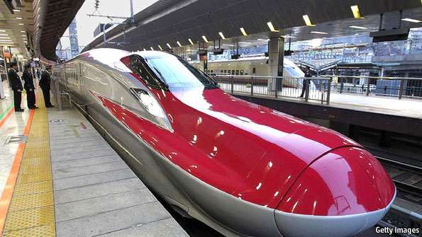 Bullet Trains whizz 120,000 passengers a day smoothly from one place to another, on trains that leave every ten minutes