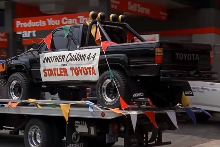 The 100 Greatest Movie and TV Cars - Back to the Future 1985 Toyota 4x4 Xtra Cab Pickup Truck