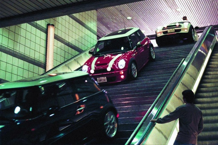 The 100 Greatest Movie and TV Cars - The Italian Job 2003 Mini Coopers