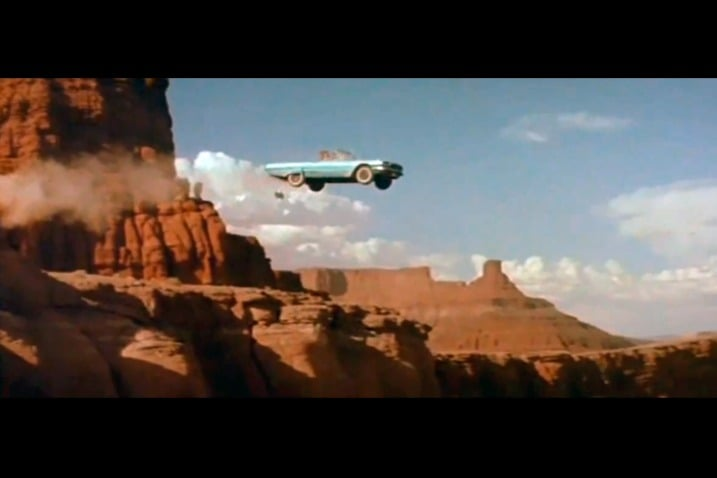 The 100 Greatest Movie and TV Cars - Thelma and Louise 1966 Ford Thunderbird