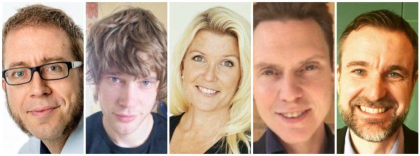 Micke Norbäck, Linus Engback, Karin Zingmark, Torbjörn Andersson, Jonas Jaani