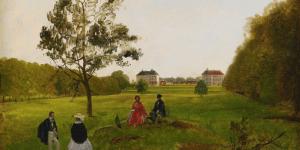 Seton på picknick i slottsparken