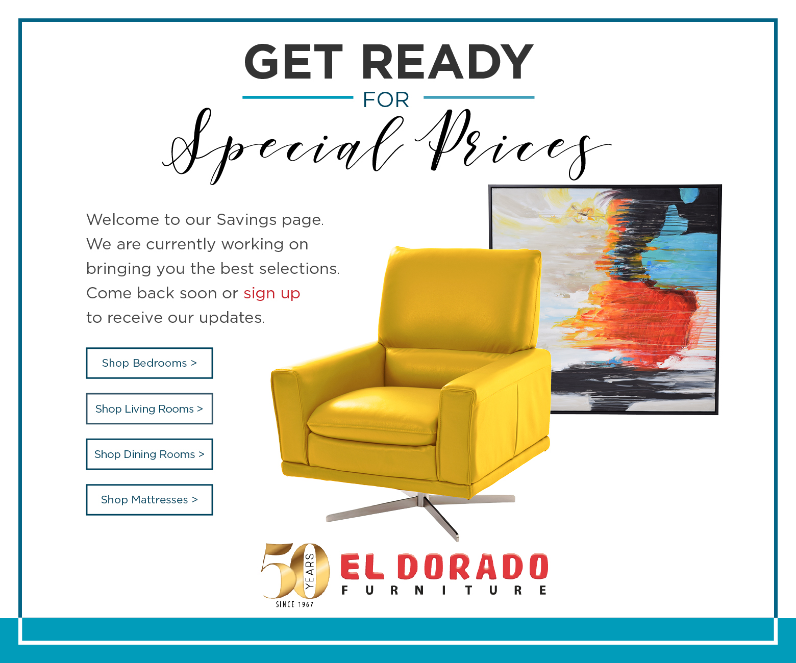 Thanksgiving Sales Event El Dorado Furniture