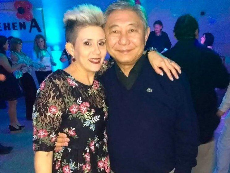 Junto al médico japonés Ricardo Yohena, que falleció el 2019