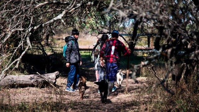 Los alumnos solían llegar embarcados, pero ahora caminan, o van a caballo. (Foto: La Nación)