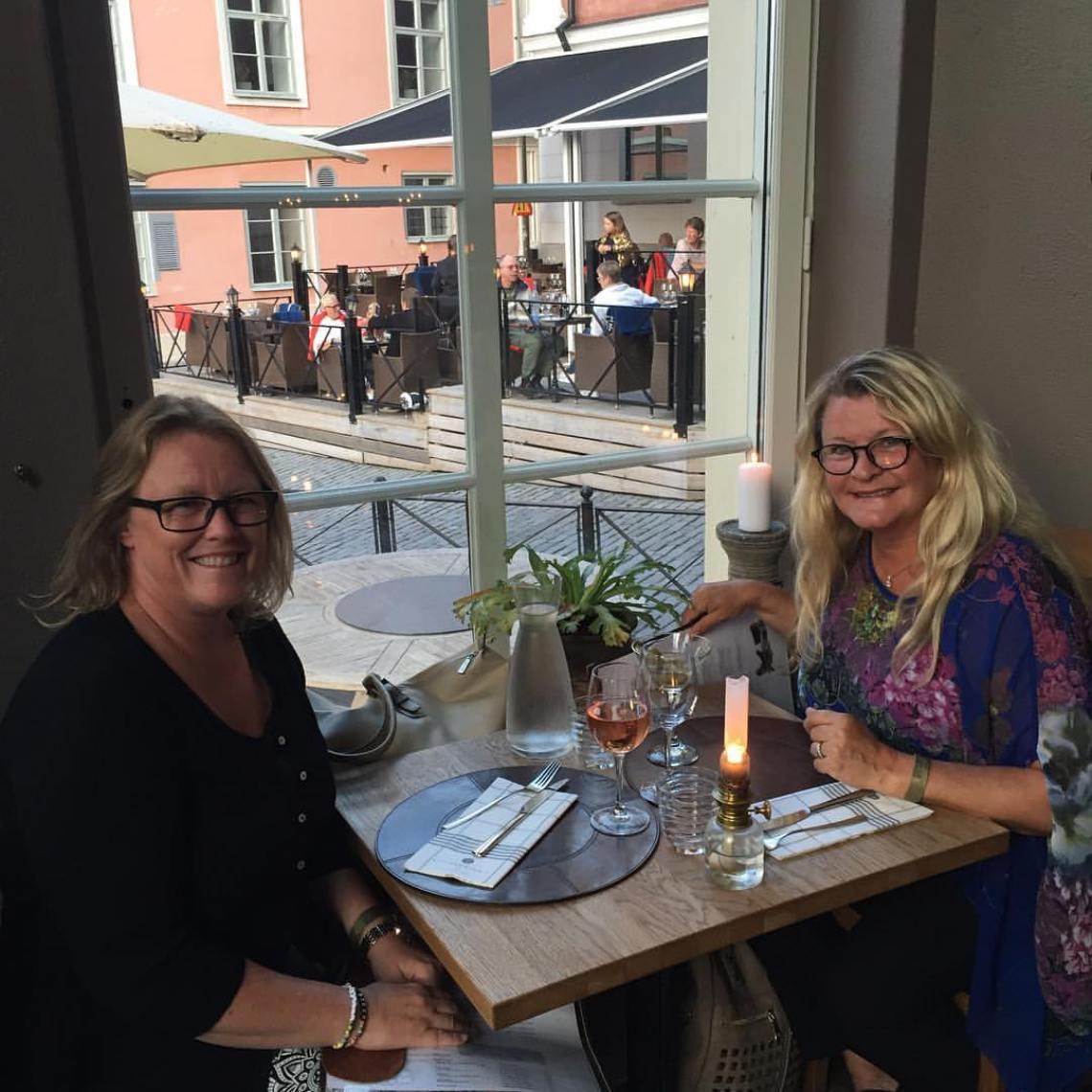 Tina och jag i Visby