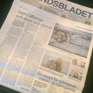 Ölandsbladet: Satt i Gillberga och skrev om ostron