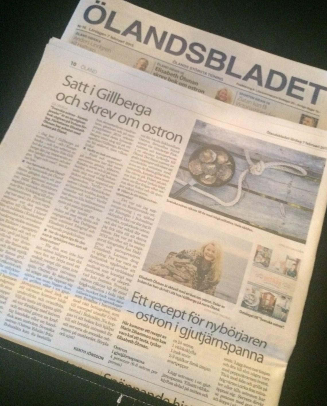 Reportage i Ölandsbladet