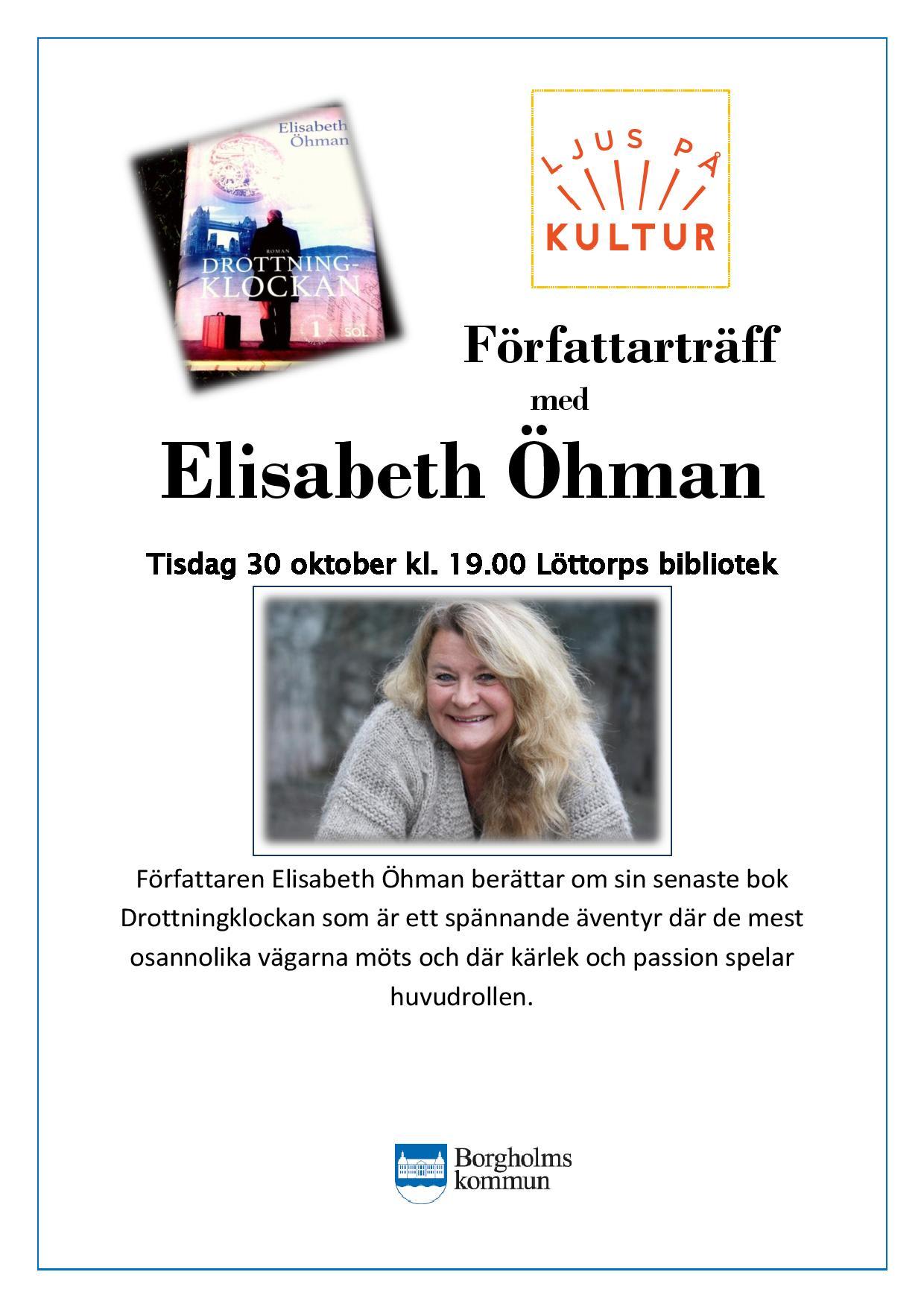 Välkommen till författarträff på Löttorps Bibliotek!