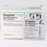 SINGULAIR ORAL GRANULES (Montelukast) dosage, indication, interactions ...