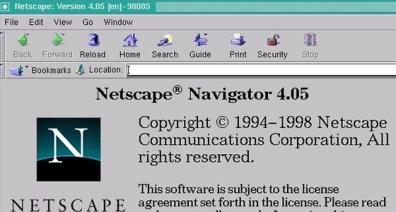 Netscape Navigator browser iz proslog veka