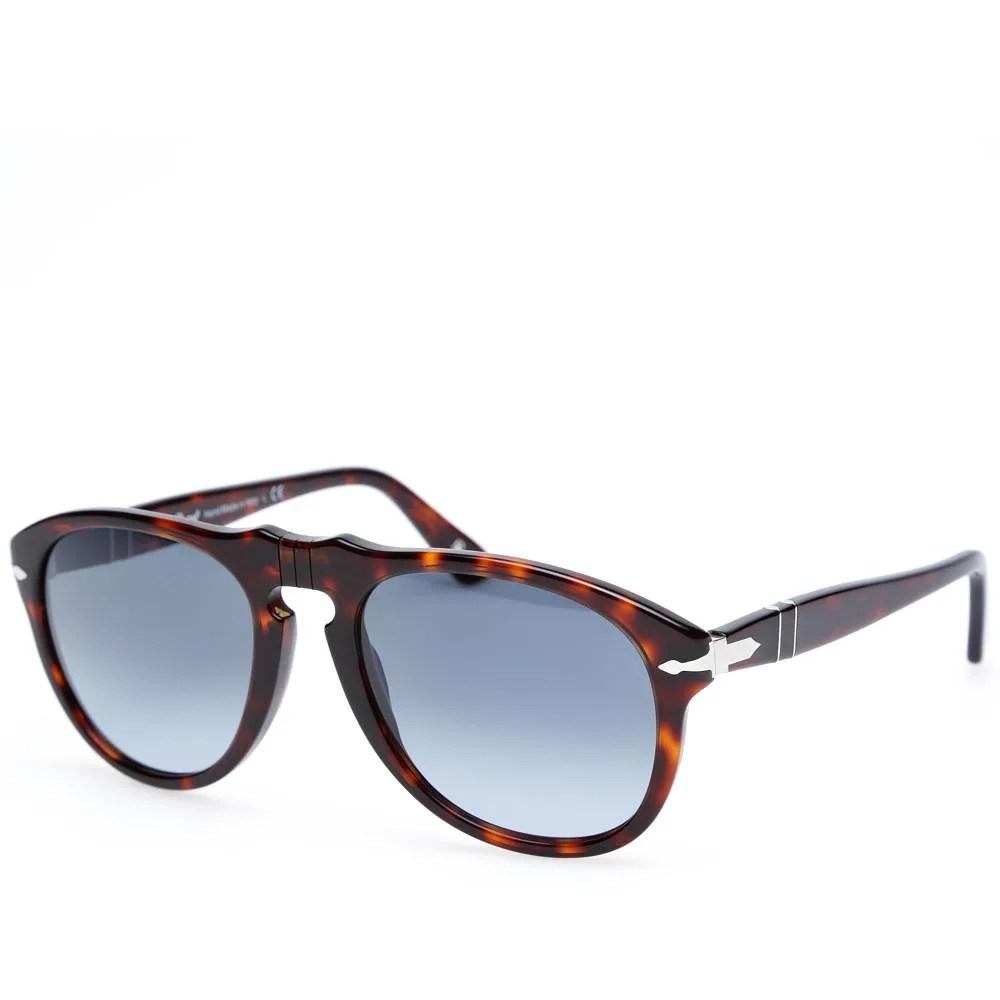 Persol 649 Aviator Sunglasses (Havana)