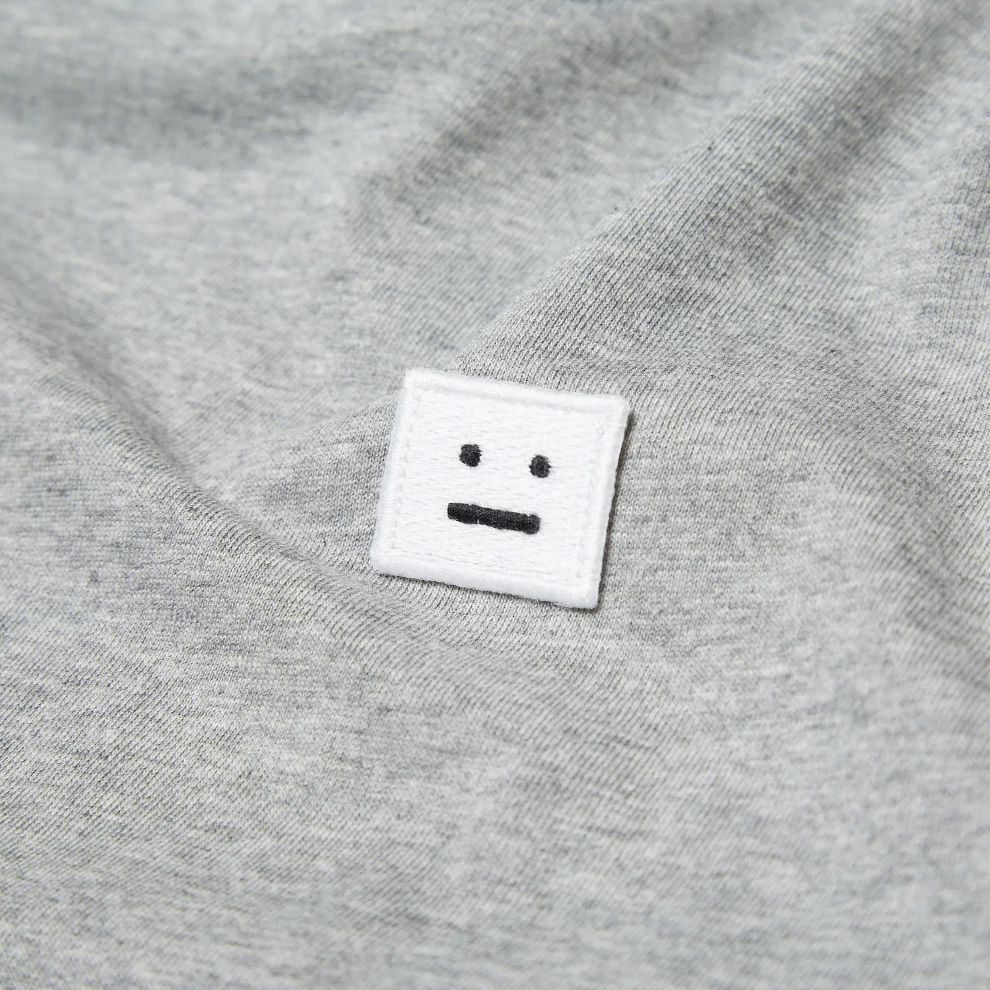 Acne Studios Standard Face Tee Grey Melange