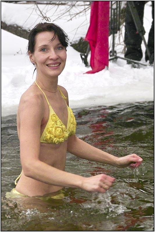 плуване през зимата