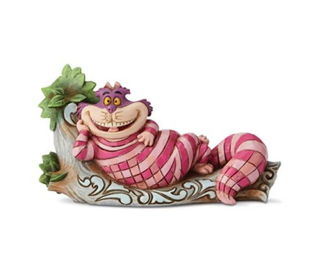 Disney Traditions Alice In Wonderland Cheshire Cat On Tree The Cats Meow Statue By Jim Shore