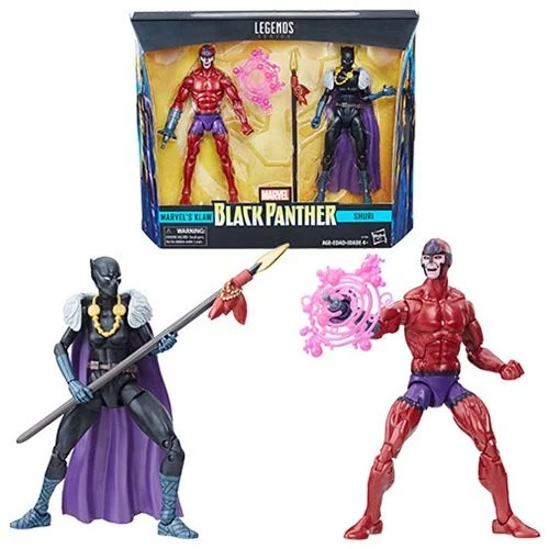 Black Panther Marvel Legends Shuri and Klaw 6-Inch Figures