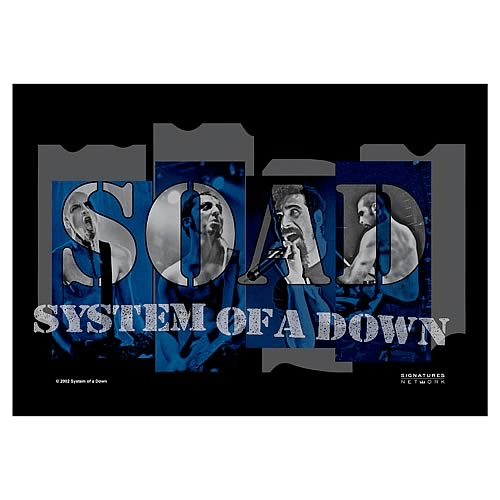system of a down band shot fabric poster wall hanging