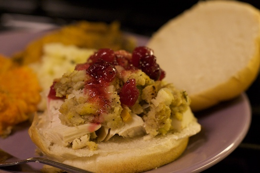 Turkey, Cranberry Sauce, and Stuffing. That's it!
