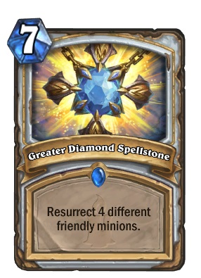 Hearthstone Big Priest Deck Guide - Greater Diamond Spellstone lets you resurrect 4 different friendly minions for seven mana.