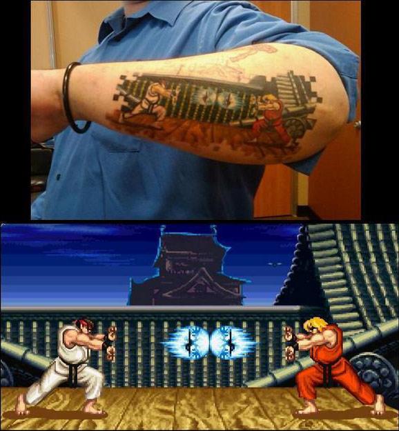 Nifty Ryu Vs Ken Street Fighter Tattoo