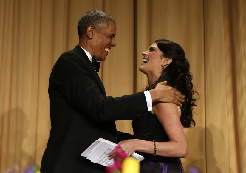 After Cecily Strong's speech at the White House Correspondents Dinner. April, 2015.