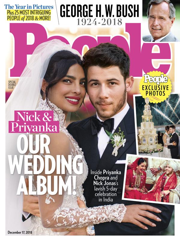 Image result for priyanka chopra wedding in magazine