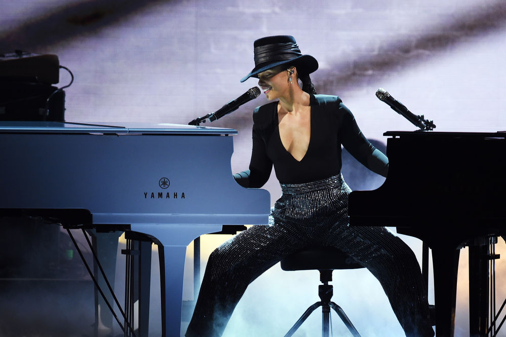 Alicia Keys performs onstage during the 61st Annual GRAMMY Awards