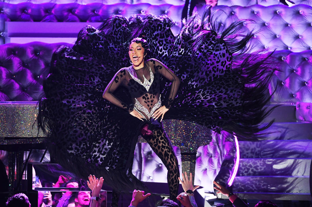 Cardi B performs onstage during the 61st Annual GRAMMY Awards