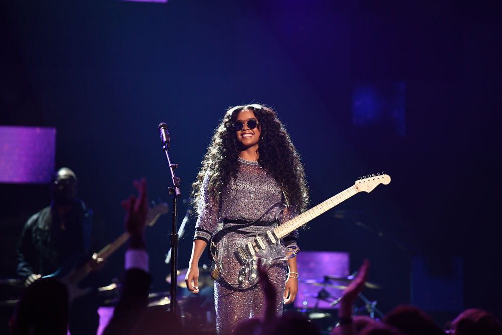 H.E.R. performs onstage during the 61st Annual GRAMMY Awards