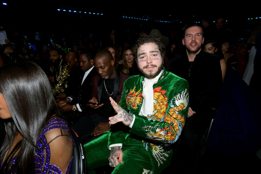 Post Malone during the 61st Annual GRAMMY Awards