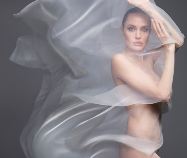 Angelina Jolie Poses Nude Plus Does Brad Pitt Have Any Say On