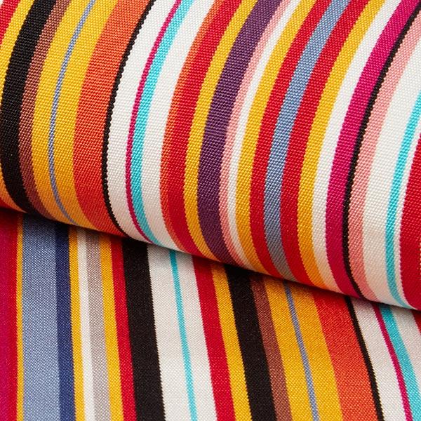 exterieur tissu pour chaise longue rayures verticales 44 cm rouge