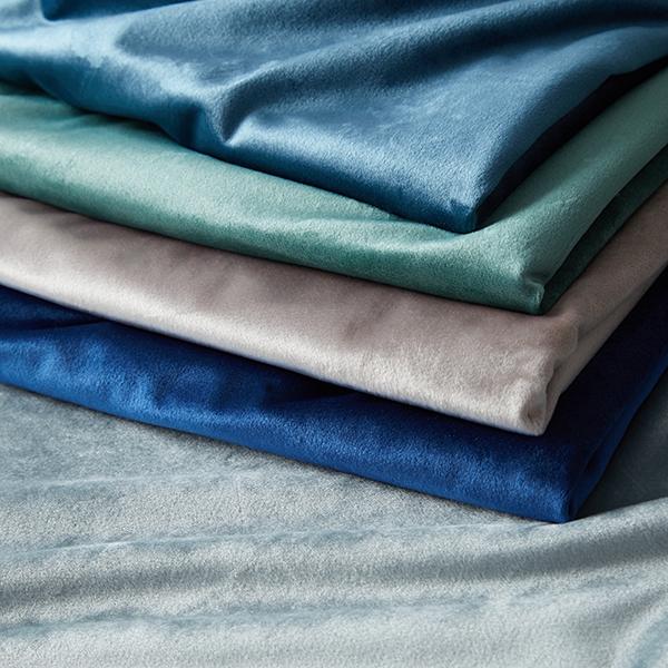 Tissu de décoration Velours – bleu marine