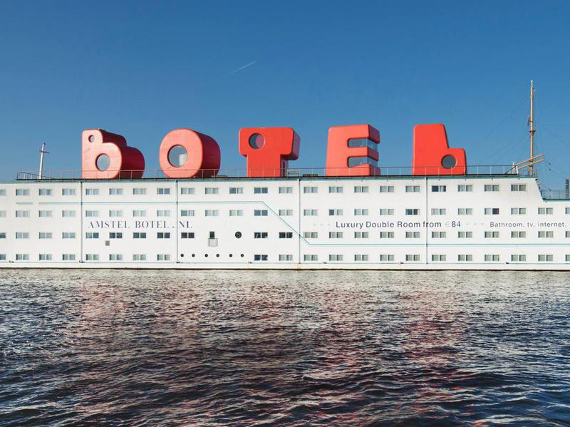 Botel offers guests the rare opportunity to sleep over in block letters.