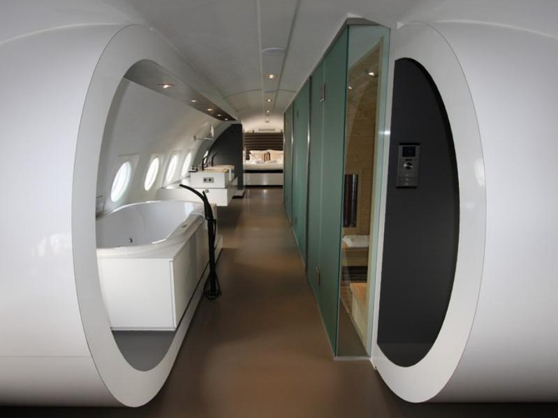 "The aptly named ""Airplane Suite"" is set in, well, an old airplane."